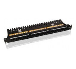 "Slika proizvoda: Value 19"" patch panel, UTP, Cat. 6, 24 ports, black"